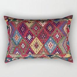 Jaff  Antique Kurdish Persian Tribal Bag Face Rectangular Pillow