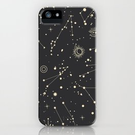 Space patterns iPhone Case