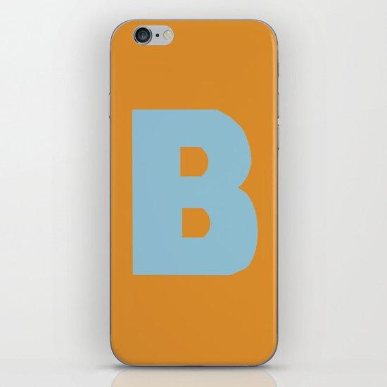 Blue B iPhone Skin