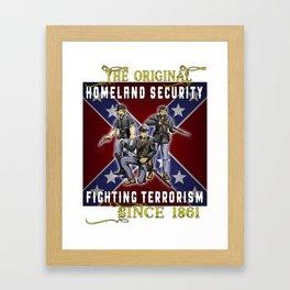 The Original Homeland Security 1861 Ed. Framed Art Print