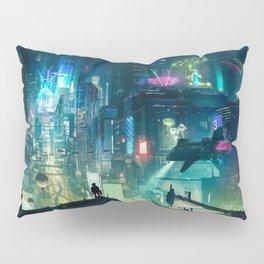 Cyberpunk City Pillow Sham