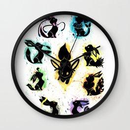 Eeveelution Splash Silhouette Wall Clock
