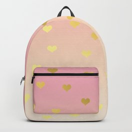 Girly gold hearts Backpack