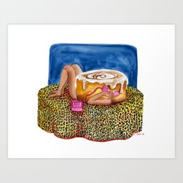 Call Cinnamon Bun Art Print