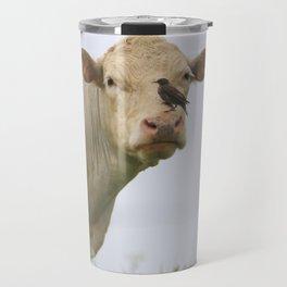 Cow Bird Travel Mug