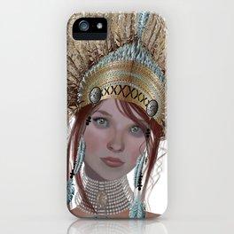 Golden headress iPhone Case