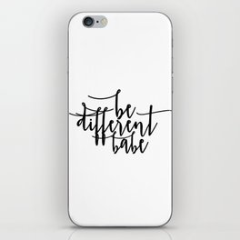 Home Sign Dorm Room Black And White Inspirational Wall Art Women Gift Valentines Day Gift Motivation iPhone Skin