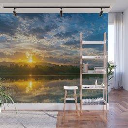 Sunrise Over Urban Reservoir Wall Mural