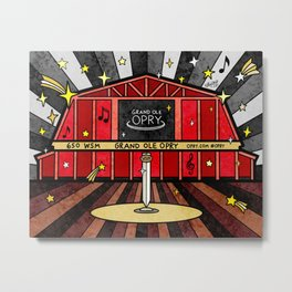 Grand Ole Opry Metal Print