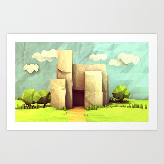 Paper Landscape Art Print