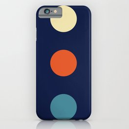 Colorful Abstract Retro Colors Dots - Nissyen iPhone Case