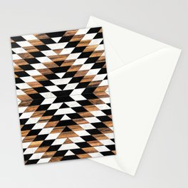 Urban Tribal Pattern 13 - Aztec - Concrete and Wood Stationery Cards