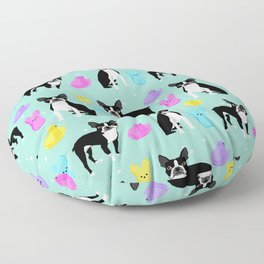 Boston Terrier dog breed peeps marshmallow treat easter spring traditions boston terriers Floor Pillow