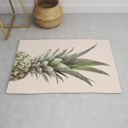 Pineapple Photography Tropical Art Rug