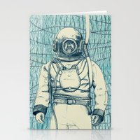 diver Stationery Cards featuring Diver by Alli Coate