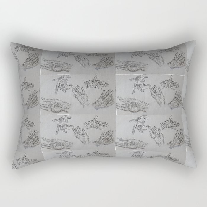 10000 Hands Rectangular Pillow