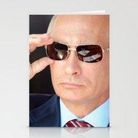 putin Stationery Cards featuring mr.Putin by Mikhail Zhirnov