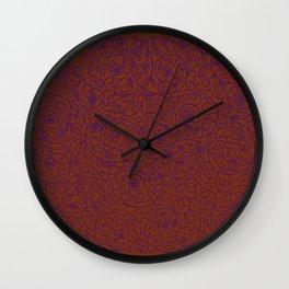 Swirls Pattern Wall Clock