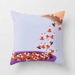 Candy Cones Throw Pillow