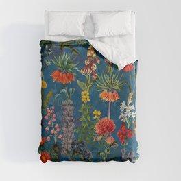 Vintage & Shabby Chic - Blue Midnight Spring Botancial Flower Garden Duvet Cover