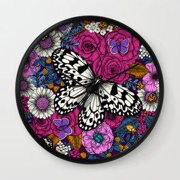 A colorful garden II  Wall Clock