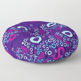 Nectarine Berry - Playful Abstract Shapes_005 Floor Pillow