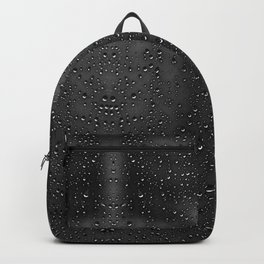 Black and White Rain Drops; Abstract Backpack