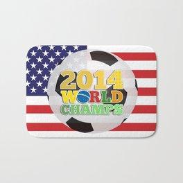 2014 World Champs Ball - USA Bath Mat