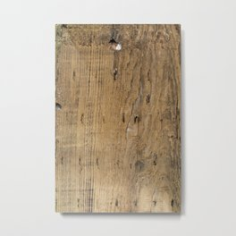 Wood Patina Metal Print