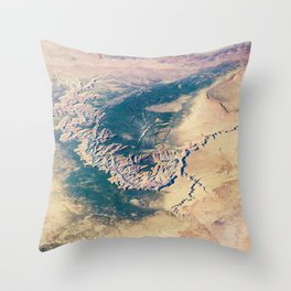 Grand Canyon Satellite Photograph from Earth's Orbit Throw Pillow