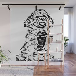 Copper the Havapookie Sketch Wall Mural