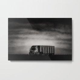 Charcoal Highway Metal Print