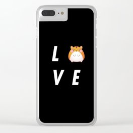 Funny Love Hamster Pun Quote Sayings Clear iPhone Case