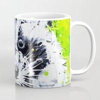 raccoon Mugs featuring RACCOON by Maioriz Home