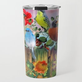 Birds and Blooms Travel Mug