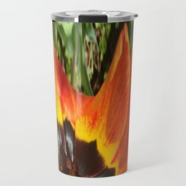 493 - Abstract Flower Design Travel Mug