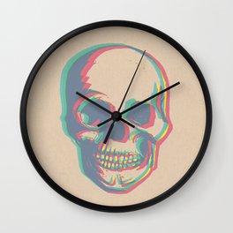Skull - Woodprint Color Wall Clock