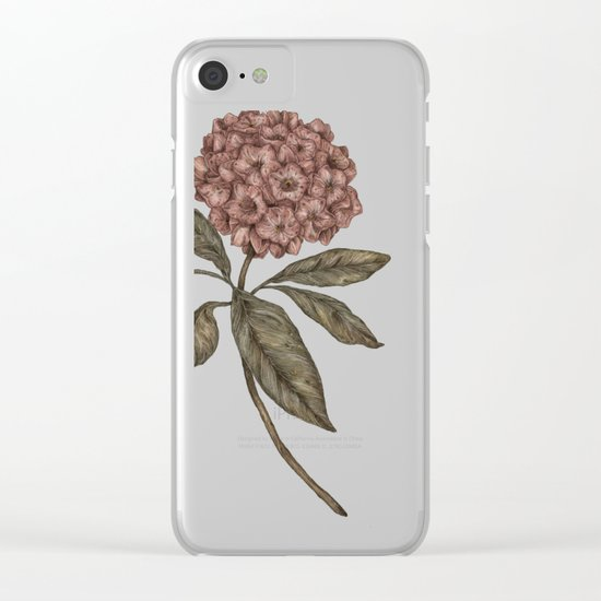 Mountain Laurel Clear iPhone Case