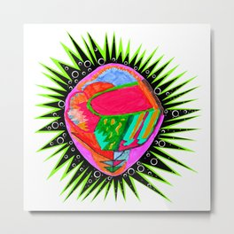 Porcupine Eye Metal Print