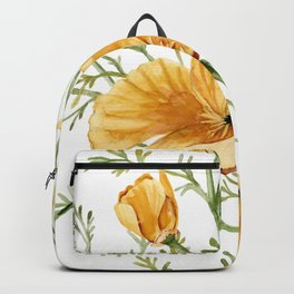 California Poppies - Watercolor Painting Backpack
