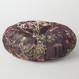 Bloom Skull Floor Pillow