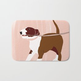 Eugenie the Bull Terrier Bath Mat