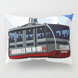 Chamonix Ski Resort , Aiguile du Midi Cable Car Pillow Sham