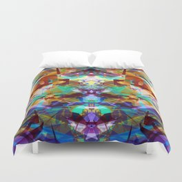 Chemical Symmetry Abstract Print Duvet Cover