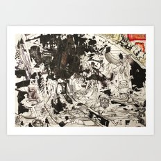At the Deep Black Bottom of History Art Print