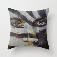 carnival Throw Pillows featuring Carnival by Michael Creese