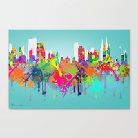 new york Canvas Prints featuring NEW YORK, NEW YORK by mark ashkenazi