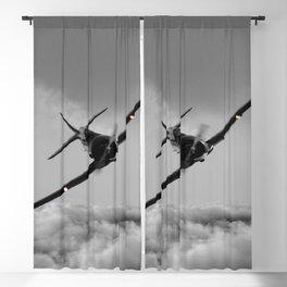 aircraft clouds grey rain Blackout Curtain