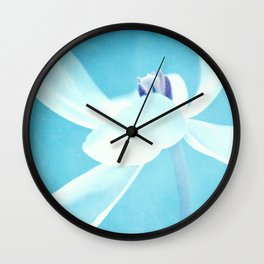 blue line Wall Clock