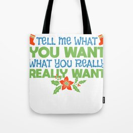 Christmas Santa Claus wish list gift Tote Bag